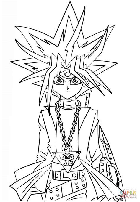 yugi muto  yu gi  coloring page  printable
