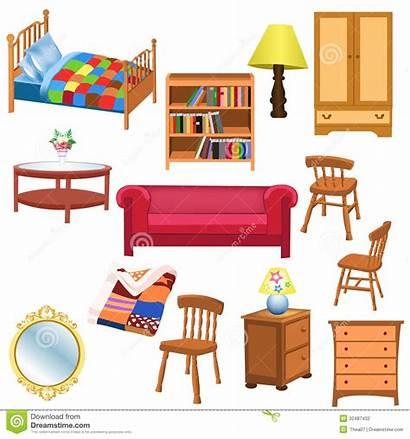 Furniture Clipart Living Bedroom Clip Furnishing Vector