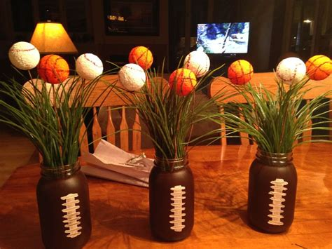 sports centerpieces for tables 80 best graduation party ideas images on pinterest