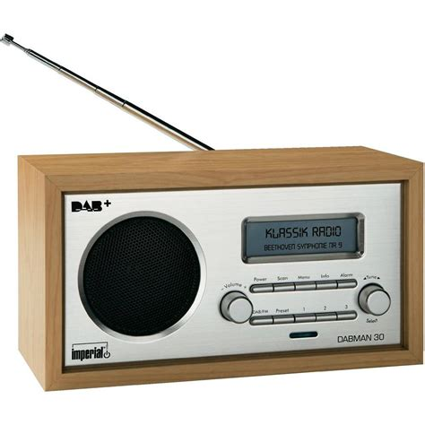 dab table top radio imperial dabman 30 dab fm wood from