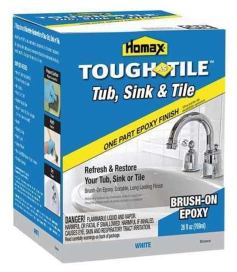 homax tub and tile epoxy paint homax 720773 brush on epxoy adhesive tub and tile paint