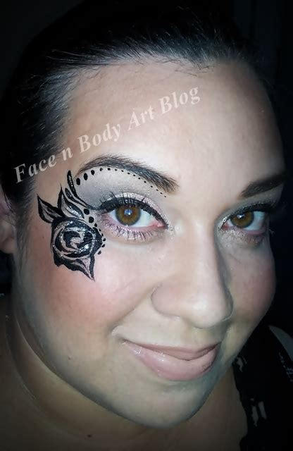 shawna    tattoo rose face painting fotd