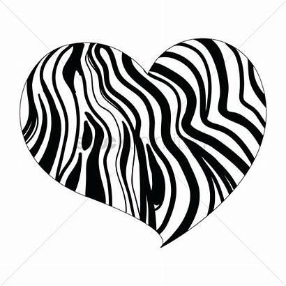 Vector Zebra Heart Clipart Illustration Stockunlimited Graphic