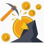 Mining Icon Gold Mine Cryptocurrency Miner Industry