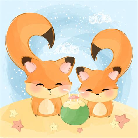 Choose from over a million free vectors, clipart graphics, vector art images, design templates, and illustrations created by artists worldwide! Cute little couple animal   Premium Vector