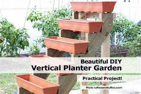 beautiful diy vertical planter garden
