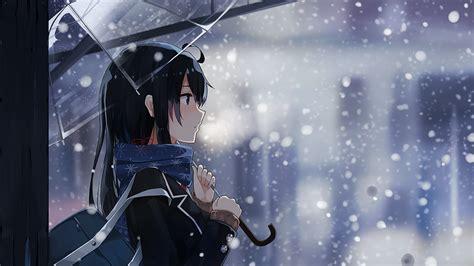 Anime Winter Wallpaper by Wallpaper Anime Snow Winter Umbrella Cold