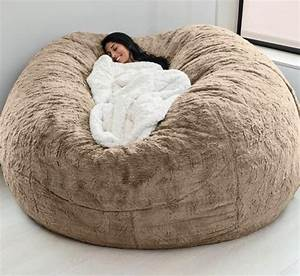 Dropshipping, Large, Giant, Unfilled, Eound, Bean, Bag, Big, Empty, Joe, Soft, Fur, Fiber, Beanbag, Covers, For