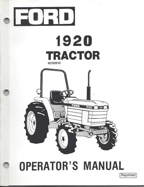 ford  holland  tractor operator manual  ebay
