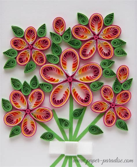 quilling kwiaty quilled flowers bukiet quilling