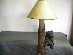 Black bear floor lamp like new cabin country cowboy for Floor lamp with bear
