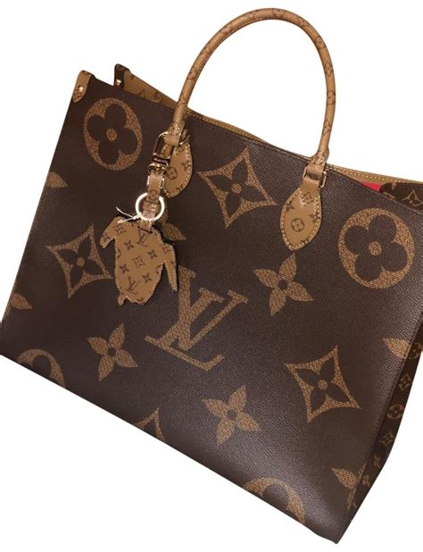 louis vuitton  limited onthego monogram reverse canvas
