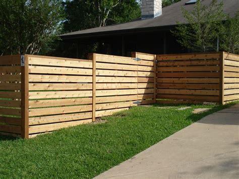 horizontal fence fences  gates