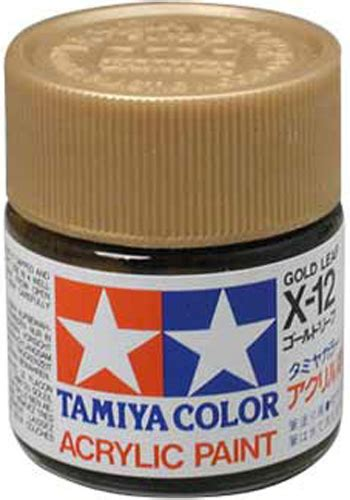 tamiya color acrylic x 12 gold leaf model kit paint 10ml