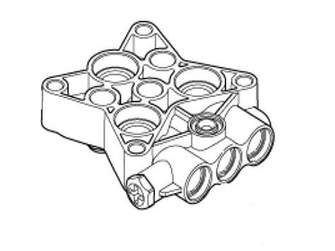 nilfisk alto c120 3 c125 3 cylinder block with m8x10 hexnilfisk alto part no 127440084special