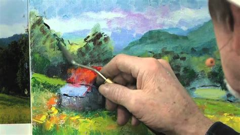 How To Use A Palette Knife In Oil Painting Youtube