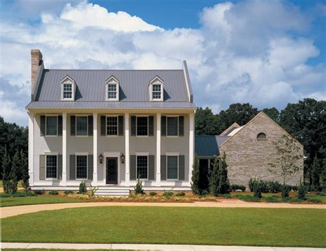 st george colonial home plan house plans