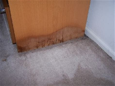 water damage to furniture