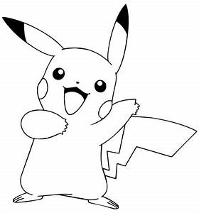 Pikachu from Pokémon GO coloring page | Free Printable ...