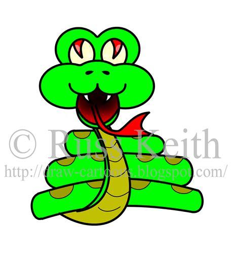 draw cartoons snake