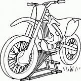 Dirt Coloring Bike Pages Printable sketch template
