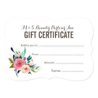 Date Gift Certificate Templates by Certificate Gifts On Zazzle