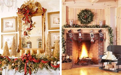 decorate  mantel  chimney  christmas lets