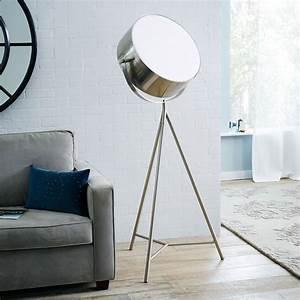 Spotlight metal tripod floor lamp the green head for 3 spotlight floor lamp