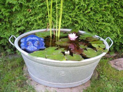 Miniteich In Zinkwanne Anleitung by Mini Teich 1 Wassergarten In The Garden Garten