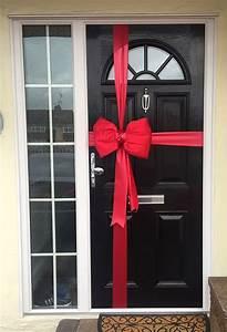 Satin, Red, Door, Bow, Decoration, Kit