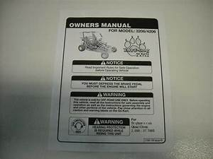 Go Kart Fun Cart Yerf Dog 40 Page Owners Manual Model 3206