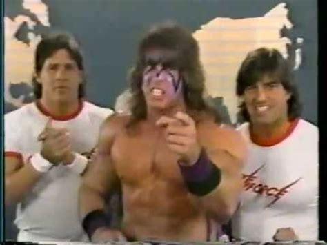 Ultimate Warrior & Strike Force Promo on Demolition & Fuji ...