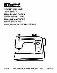 Kenmore 385 16520000 Sewing Machine Instruction Manual