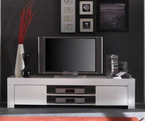 Rimini Collection Large TV Unit   Gloss White   TV & media