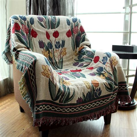 Throw Blankets For Couches by Chausub Vintage Cotton Blankets Winter Home Leisure Sofa