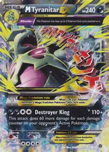 pokemon card mega tyranitar ex 4398 rare xy ancient origins set mint p