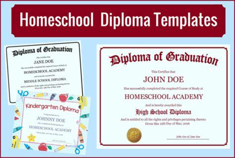 homeschool diploma homeschool diploma templates free for homeschoolers