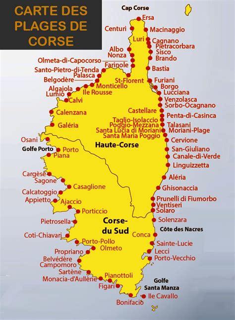 Carte Des Plages De by Carte Corse Images Et Photos Arts Et Voyages