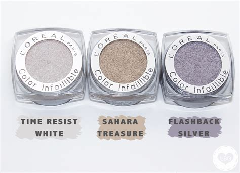 loreal color infallible eyeshadow review swatches