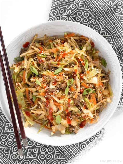 beef  cabbage stir fry  video budget bytes