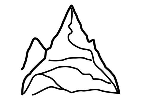 coloriage montagne simple dessin gratuit 224 imprimer