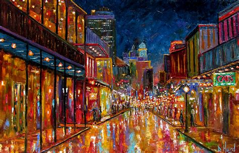 Stevie Ray Vaughan Wallpaper Debra Hurd Original Paintings And Jazz Art New Orleans Bourbon Street Cityscape Abstract Art