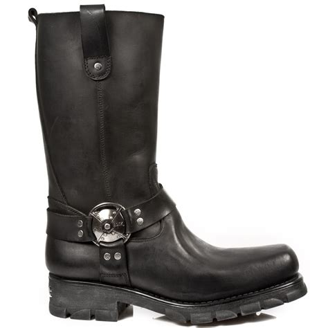 new motorcycle boots m 7610 s1 black new rock motorcycle boots