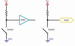 pull up and pull down resistors With pull up circuit