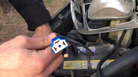 headlight harness install youtube