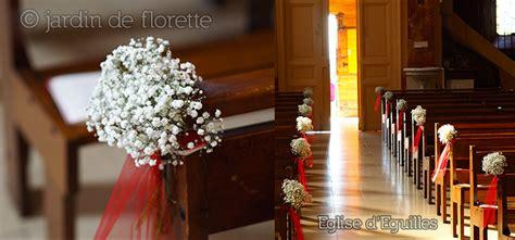 mariage en provence petit bouquet de gypsophile pour la d 233 coration des bancs de l 233 glise d