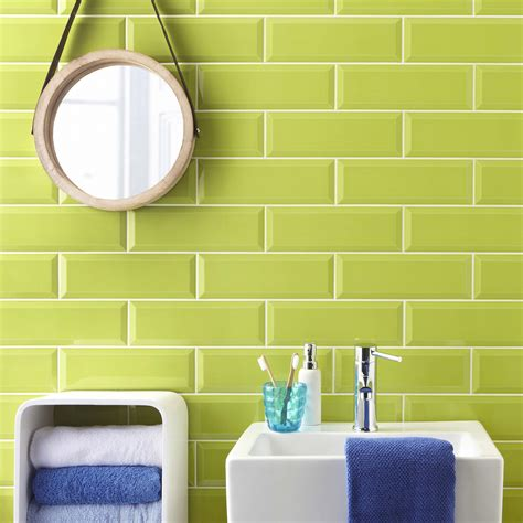Metro Lime Green Wall Tile  Metro Wall Tiles From Tile