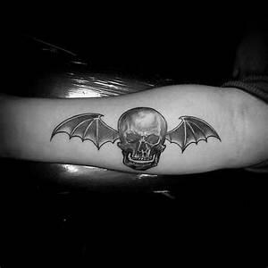 Gothic Skull Designs 30 Deathbat Designs For Men Winged Skull Ink Ideas