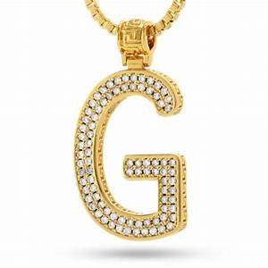 14k gold letter quotgquot necklace gold initial pendant With gold letter g
