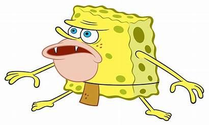 Spongebob Transparent Caveman Primitive Sponge Meme Fish